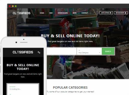 Responsive Classifieds Ads Theme - PremiumPress