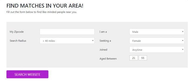 Search Module - Dating WordPress Theme