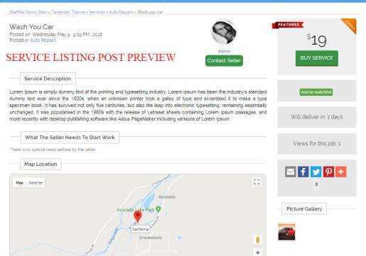 Service Listing Post - TaskerDev Task Marketplace Theme
