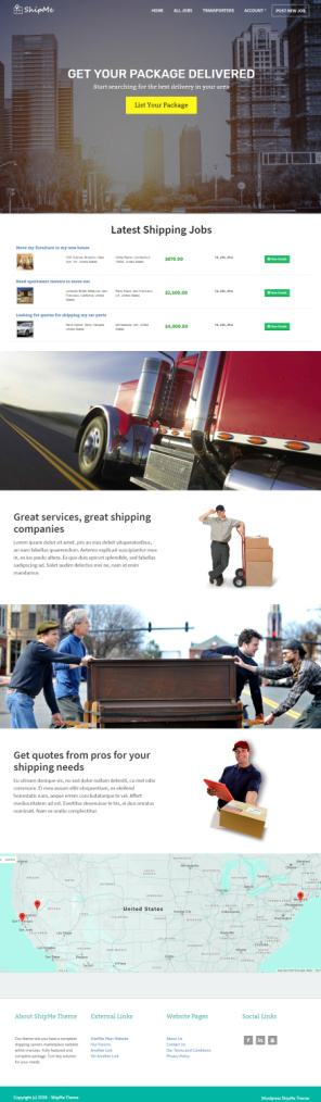SiteMile ShipMe Demo : Best Shipping / Carriers Marketplace Theme