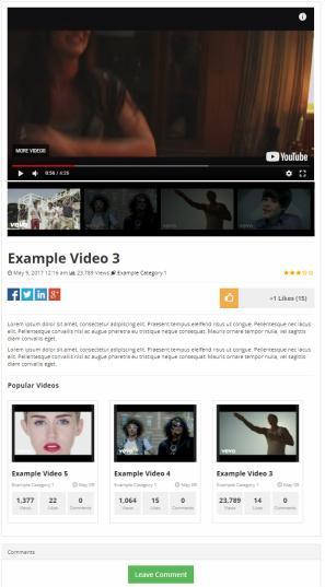 Single Video Post - PremiumPress