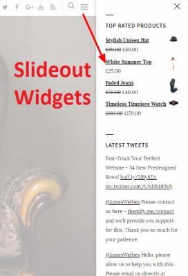 Sticky Sidebar - Slideout Widgets