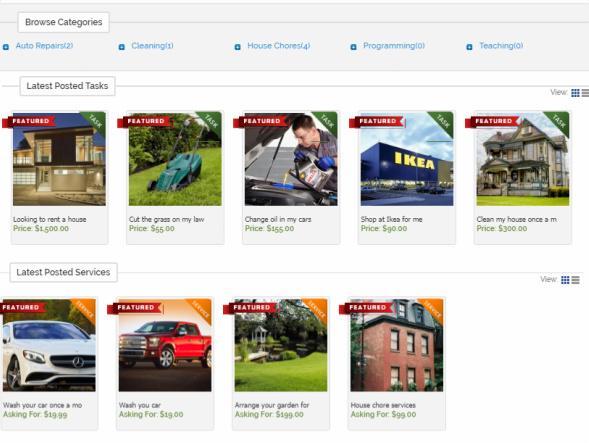 TaskerDev Homepage - Featured Listing
