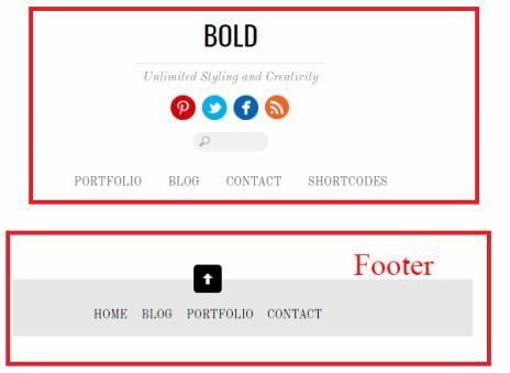 Bold - Header Footer