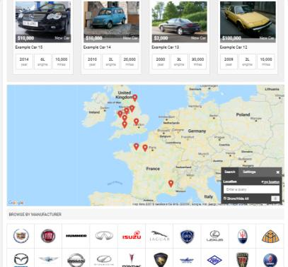 Car Dealer - Homepage