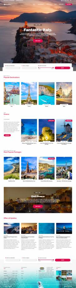 CSSIgniter Cousteau Pro : Best Responsive Travel Business Theme