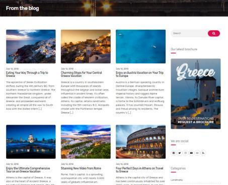 Cousteau Pro Travel Blog Template