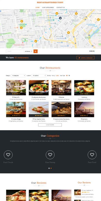 DiningEngine EngineThemes : Best Restaurant Directory WordPress Theme