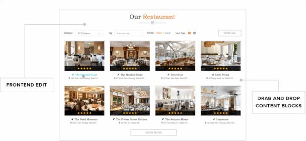 DiningEngine Frotend Homepage Control