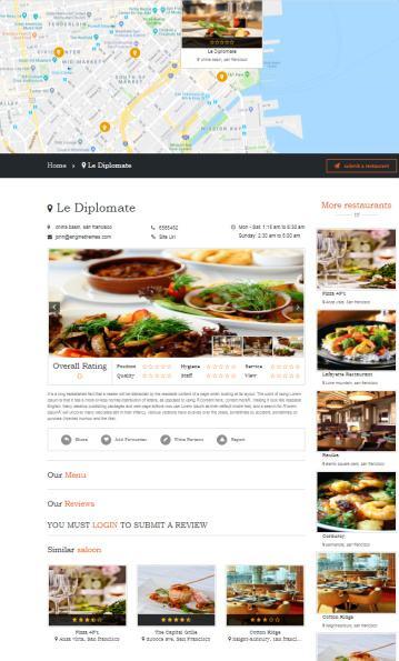 DiningEngine Single Listing Restaurant Preview