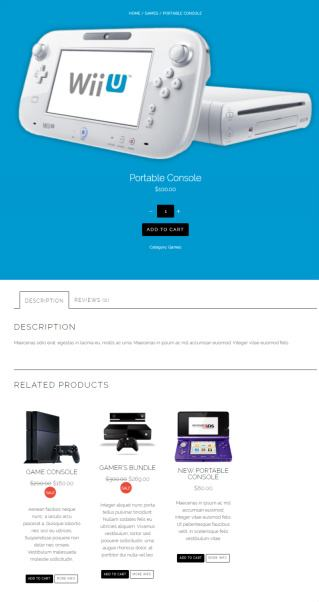Flatshop Product Page - Themify