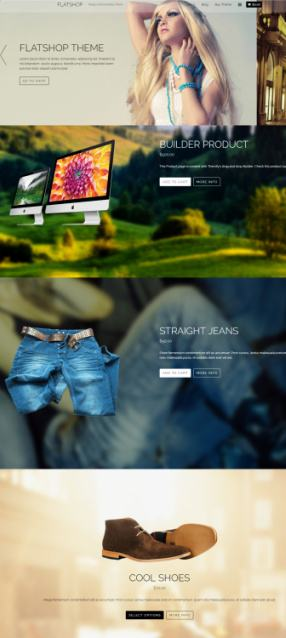 Flatshop Themify - Parallax WooCommerce Theme
