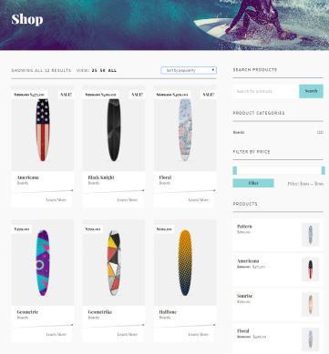 Flevr WooCommerce Shop Page