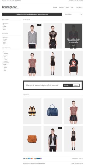 Herringbone CSSIgniter : Responsive E-Commerce Theme