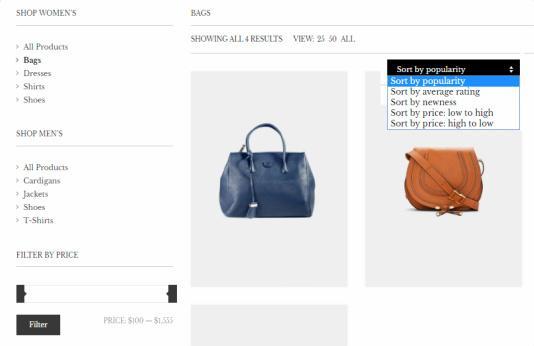 Herringbone - Shop Page Layout Options