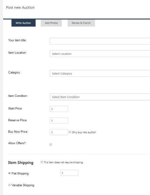 Auction Post - SiteMile