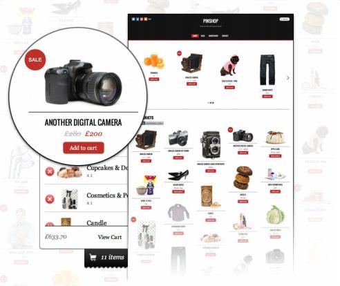 Themify Pinshop : Pinterest Style eCommerce WordPress Theme
