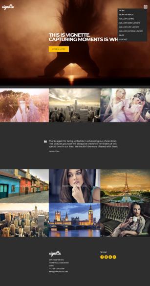 Vignette CSSIgniter : WordPress Photography / Gallery Theme