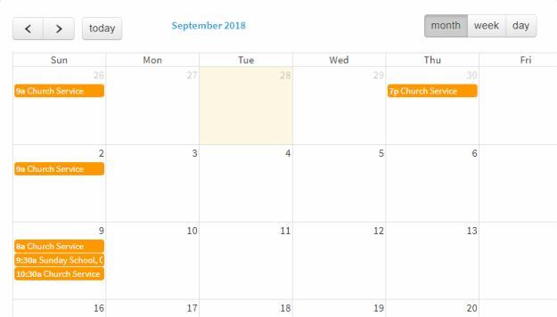 Benevolence - Google Events Calendar