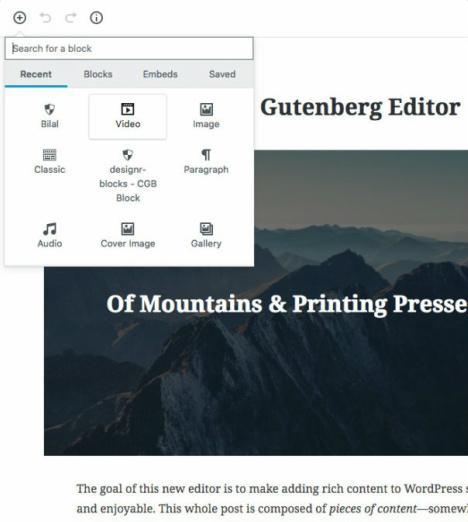 Benevolence Gutenberg Editor