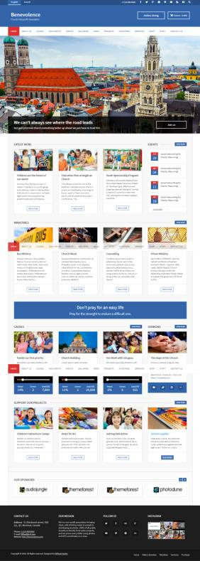 WPlook Benevolence – Gutenberg Supported Theme for Churches/NGO