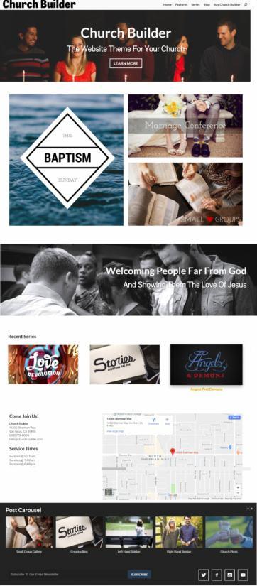 Church Builder by Organized Themes – Church WordPress Theme