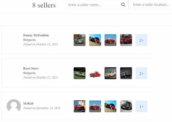 ClassifiedEngine Sellers Profiles
