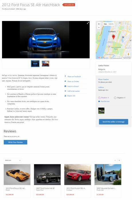 ClassifiedEngine - Single Ad Listing