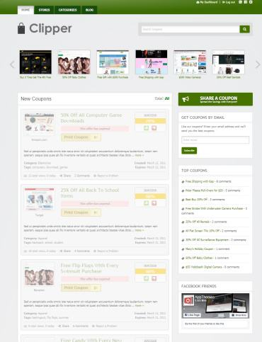 Clipper AppThemes : Best WordPress Coupon Deals Theme