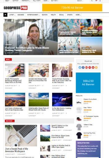 GoodPress News/Magazine WordPress Theme : HappyThemes