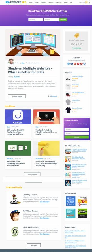 HappyThemes Keyword : Best Coupon Blogging WordPress Theme