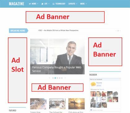 Magazine Advertisement Options