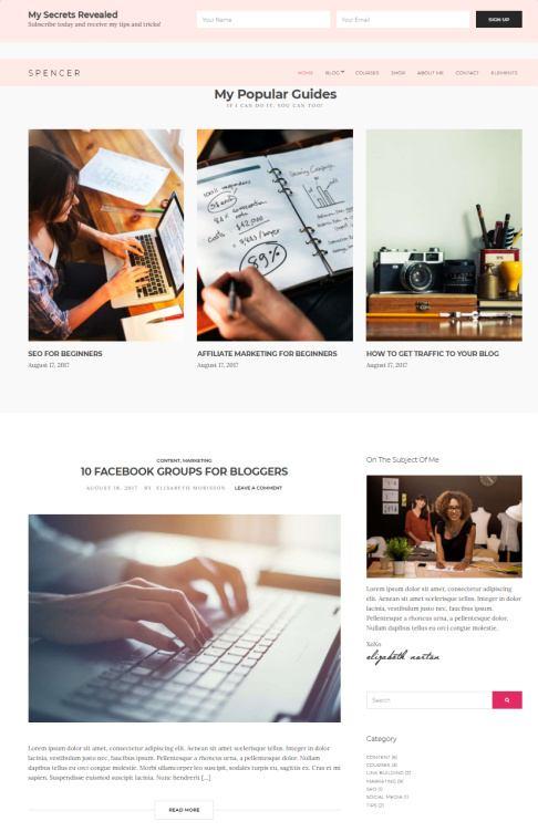 Spencer Homepage Widgets