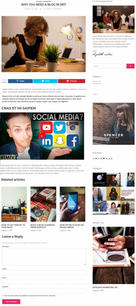 Spencer Single Blog Post