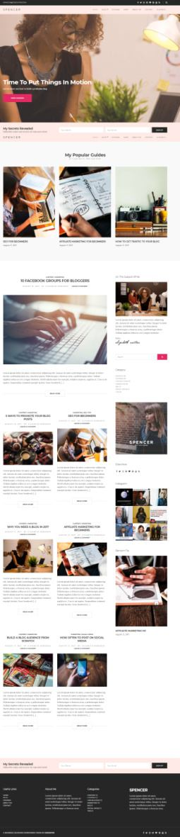 Spencer Theme : CSSIgniter WP Theme for Entrepreneurs and Bloggers