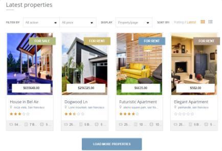 EstateEngine - Latest Properties Homepage