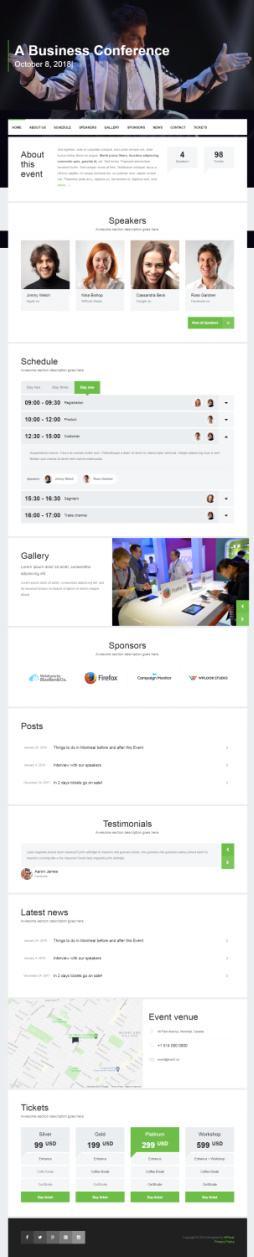 WPLook Event Demo : Best Premium Event WordPress Theme