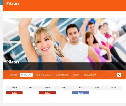FitnessLife WPLOOK - Classes