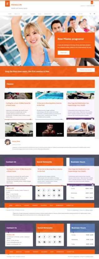 FitnessLife WPLOOK - Gym & Fitness WordPress Theme