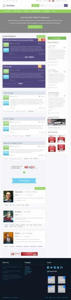 HireBee AppThemes - WordPress Freelancer Theme