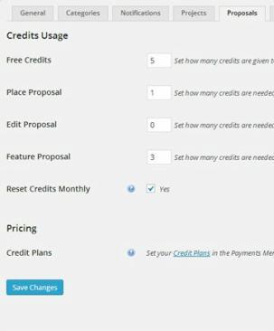 HireBee Credits Proposals