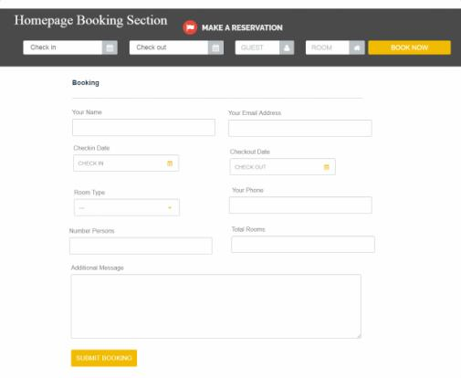 HotelEngine Booking Form