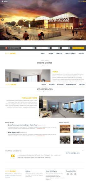 HotelEngine EngineThemes : Premium Hotel WordPress Theme