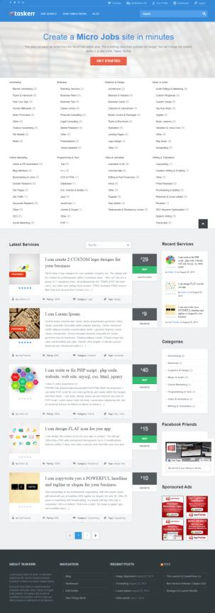 Taskerr AppThemes – Best Micro Jobs Application Theme For WordPress