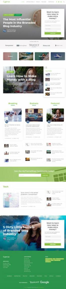 Cyprus - Premium WordPress Theme Branded Websites