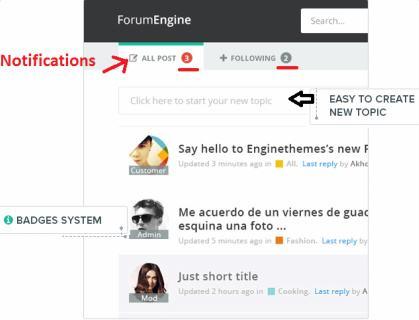 ForumEngine Badge System