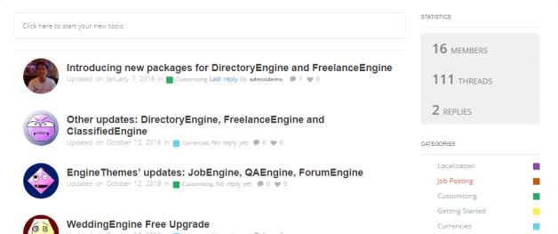 ForumEngine Homepage Design