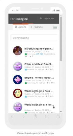 ForumEngine - Responsive Forum Theme