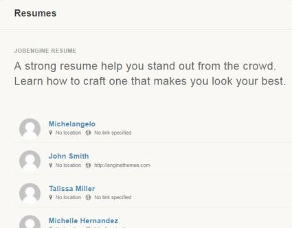 JobEngine Resumes