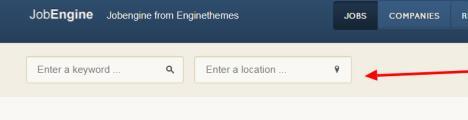 JobEngine Search Option